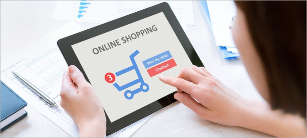 oonline shopping on smartphones