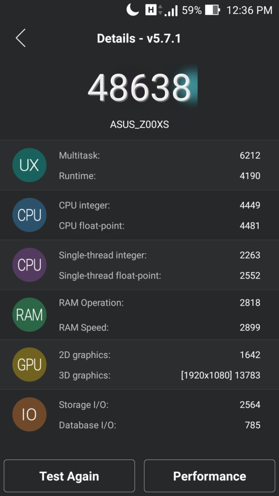 Asus Zenfone Zoom Performance